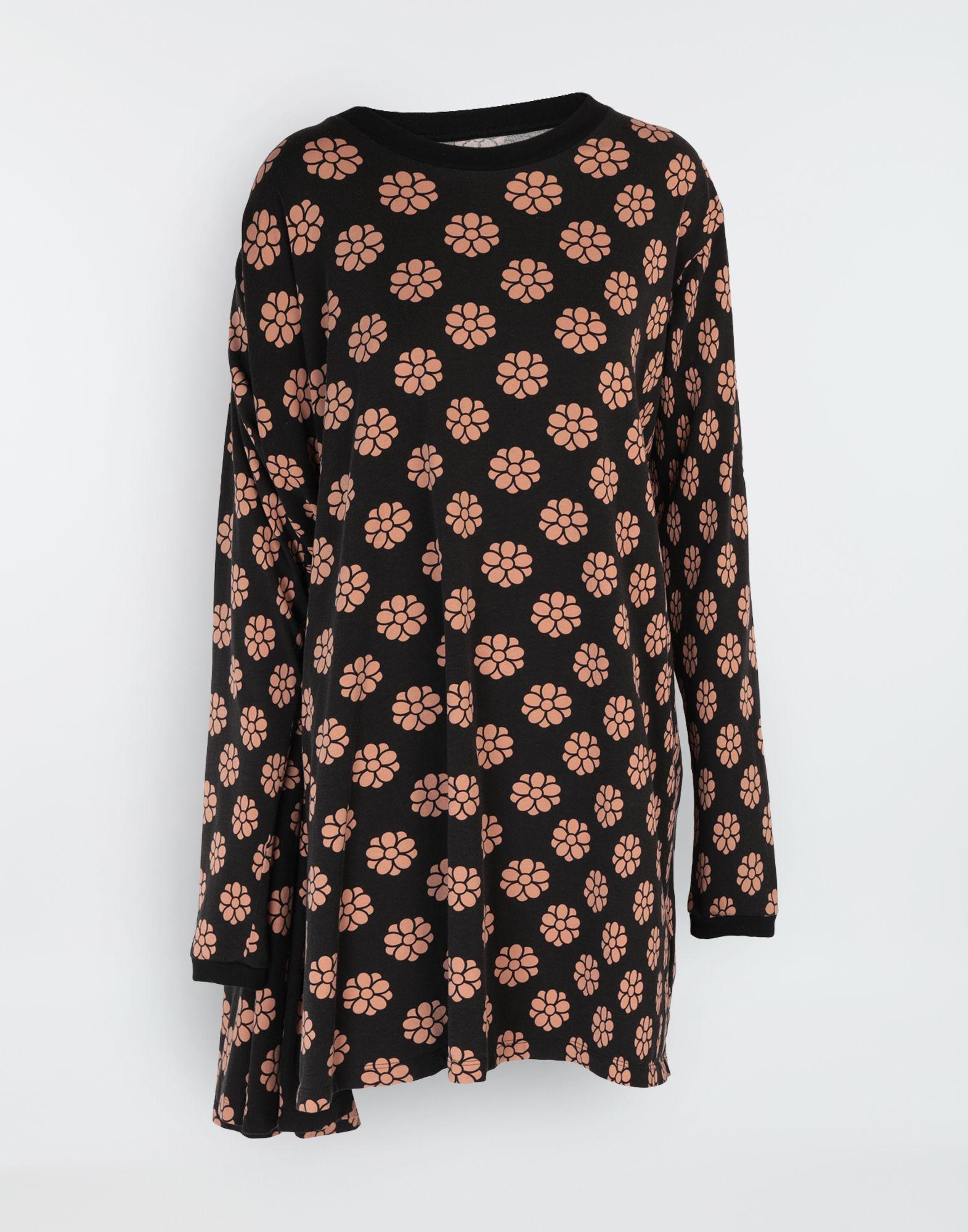 MM6 MAISON MARGIELA Polka dot flower-print shirt dress Short dress Woman f