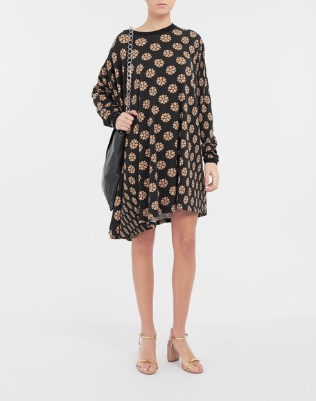 MM6 MAISON MARGIELA Polka dot flower-print shirt dress Short dress Woman d