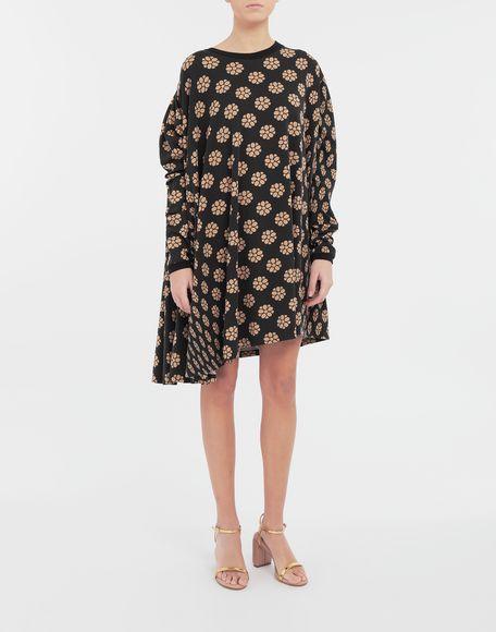 MM6 MAISON MARGIELA Polka dot flower-print shirt dress Short dress Woman r