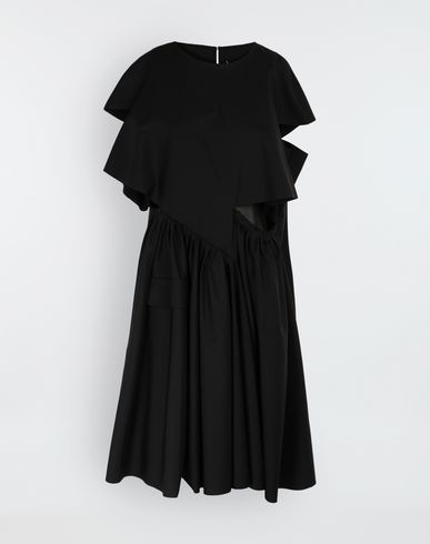 MAISON MARGIELA Décortiqué gathered midi dress 3/4 length dress [*** pickupInStoreShipping_info ***] f