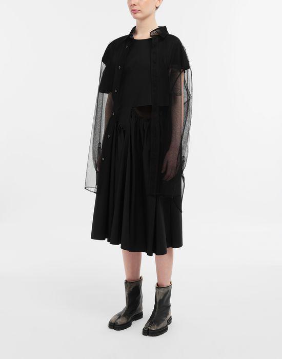 MAISON MARGIELA Décortiqué gathered midi dress 3/4 length dress [*** pickupInStoreShipping_info ***] d