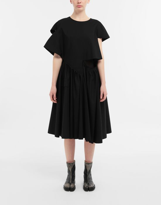 MAISON MARGIELA Décortiqué gathered midi dress 3/4 length dress [*** pickupInStoreShipping_info ***] r
