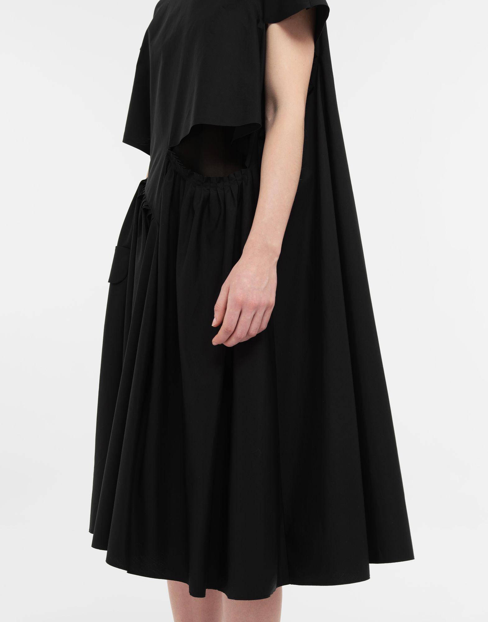 MAISON MARGIELA Décortiqué gathered midi dress 3/4 length dress Woman a