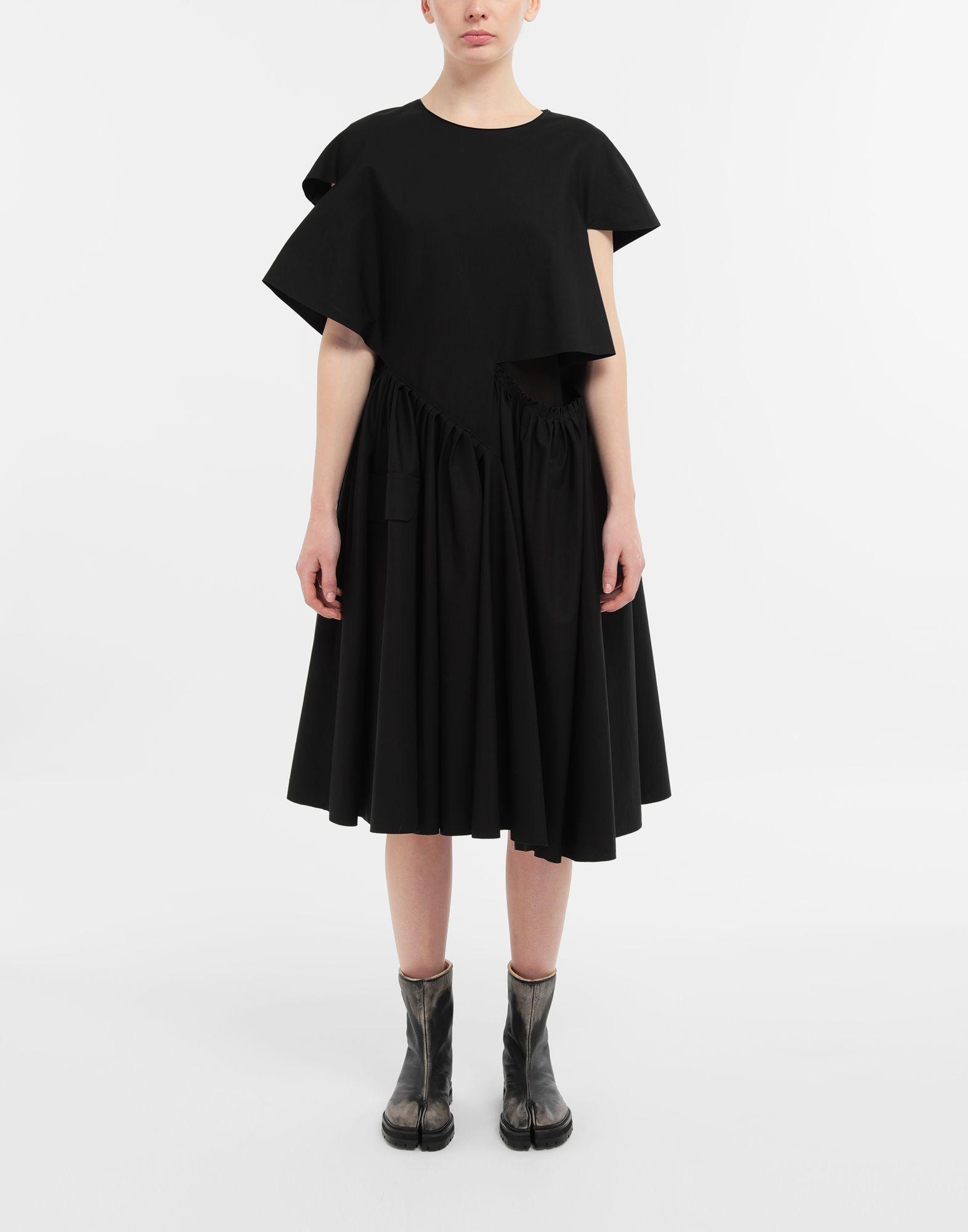 MAISON MARGIELA Décortiqué gathered midi dress 3/4 length dress Woman r