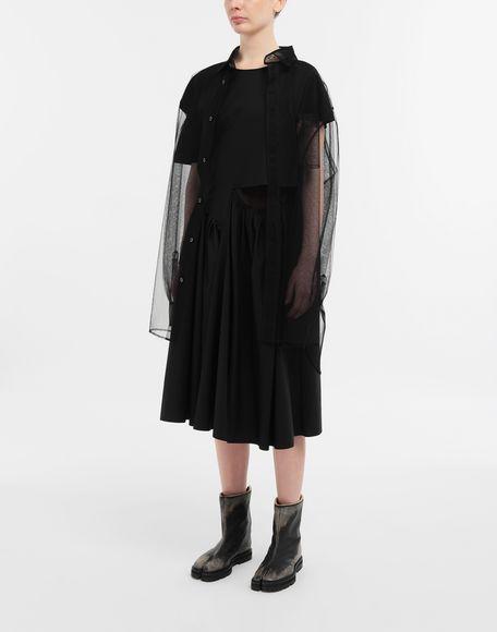 MAISON MARGIELA Décortiqué gathered midi dress 3/4 length dress Woman d
