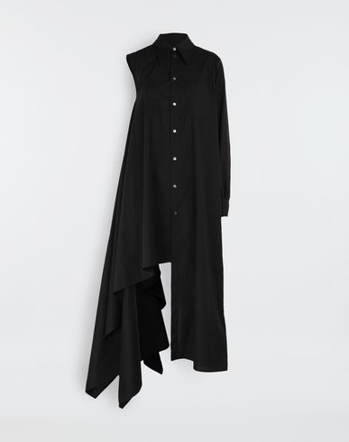 MM6 MAISON MARGIELA Long dress [*** pickupInStoreShipping_info ***] Asymmetrical long shirt dress f