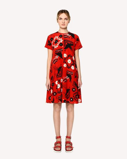 REDValentino Printed dress Woman RR0VA6P5UWZ MM0 f