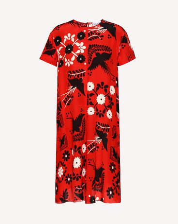 REDValentino RR0VA6P5UWZ MM0 Printed dress Woman a