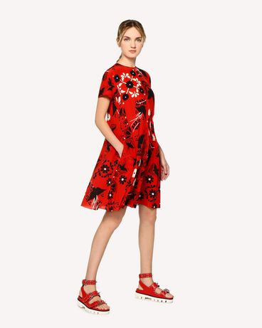 REDValentino RR0VA6P5UWZ MM0 Printed dress Woman d