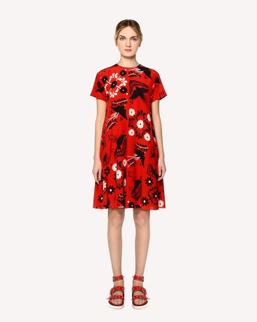 REDValentino RR0VA6P5UWZ MM0 Printed dress Woman f
