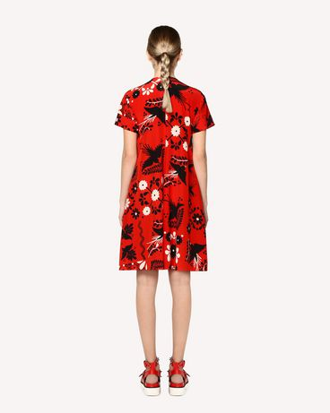 REDValentino RR0VA6P5UWZ MM0 Printed dress Woman r