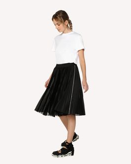 REDValentino Jersey dress with a pleated skirt