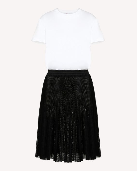 8301687c05 REDValentino Jersey Dress With a Pleated Skirt - Short Dress for ...