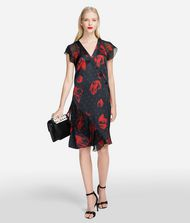 KARL LAGERFELD Flower Ruffle Dress 9_f