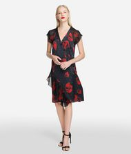 KARL LAGERFELD Flower Ruffle Dress Dress Woman f