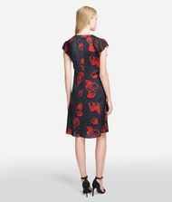 KARL LAGERFELD Flower Ruffle Dress Dress Woman r
