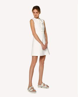 REDValentino Stretch Cotton dress with lacing detail