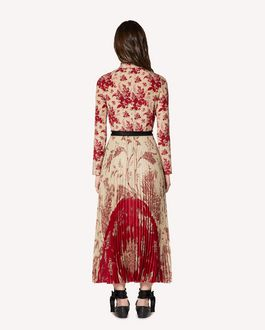 REDValentino Floral Tapestry and Toile de Jouy mix printed silk dress