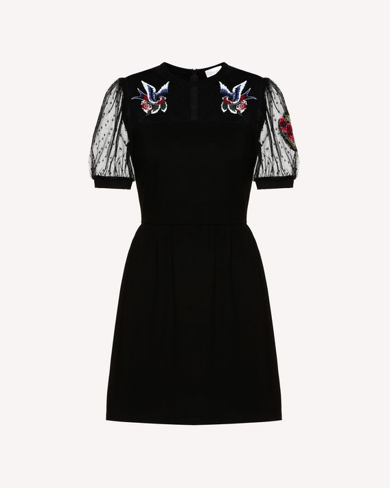 REDValentino Jersey dress with tattoo patches