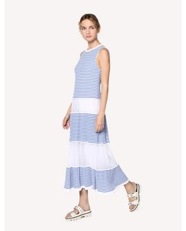 REDValentino Striped cotton knit dress