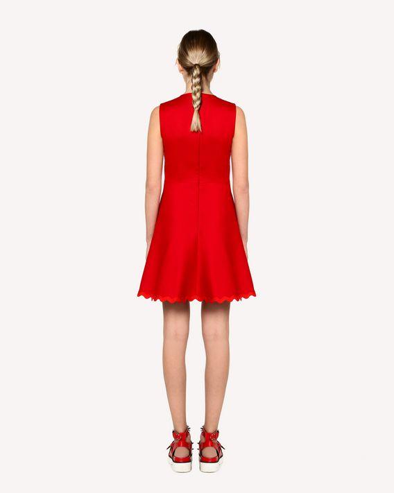 REDValentino Cotton cady dress with zagana ribbon detail