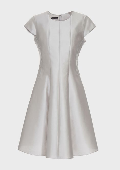 Silk and cotton radzimir flared dress