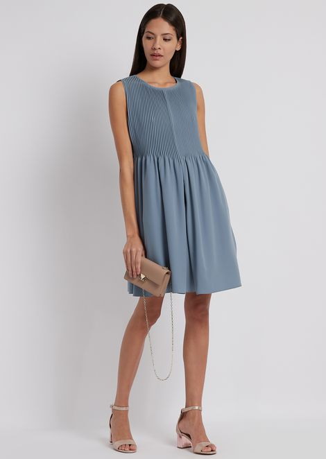 Flared dress with pleats