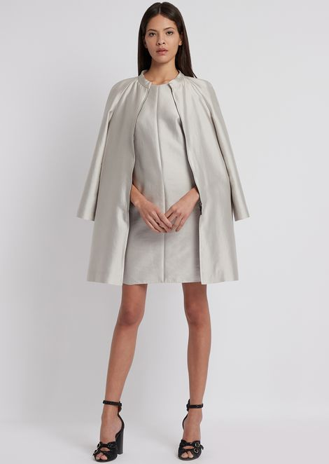 Dress in radzimir with pleating on the back