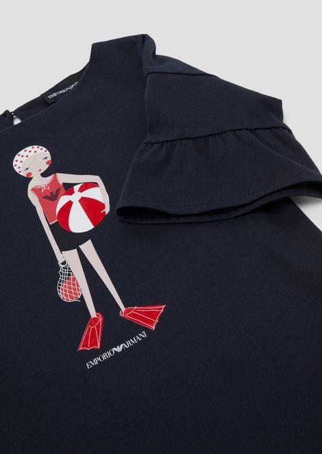 ドレス ジャージー製 プールガールプリント