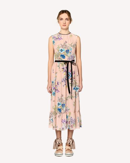 REDValentino Printed dress Woman RR0VAC43JTD 377 f