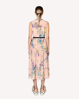 REDValentino Parrot Ramage printed silk dress