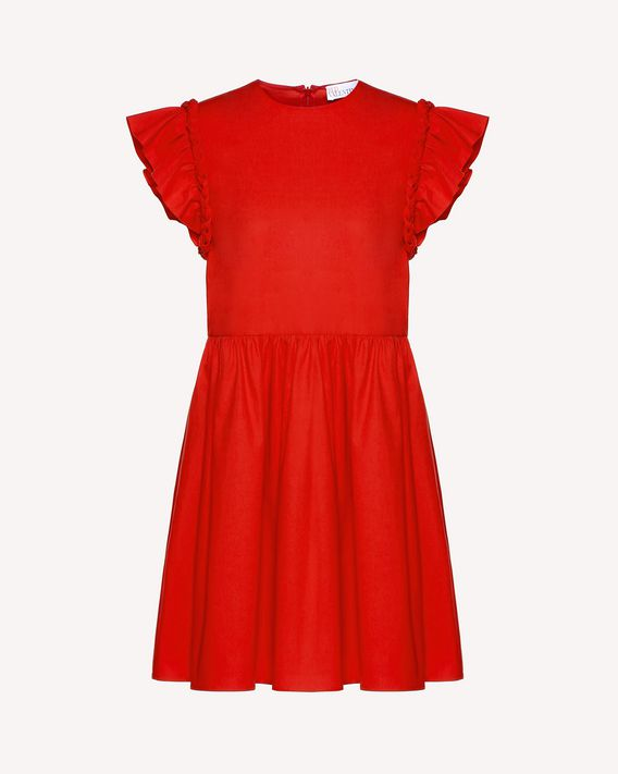 REDValentino Stretch compact poplin dress with braids detail