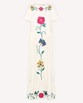 REDValentino Mexican Flowers embroidered dress
