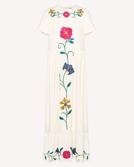 REDValentino クレープサブレ ドレス メキシカンフラワーズ エンブロイダリー