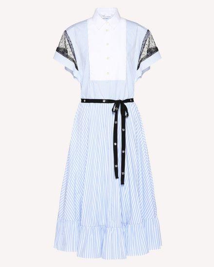 Платье из хлопкового поплина в полоску