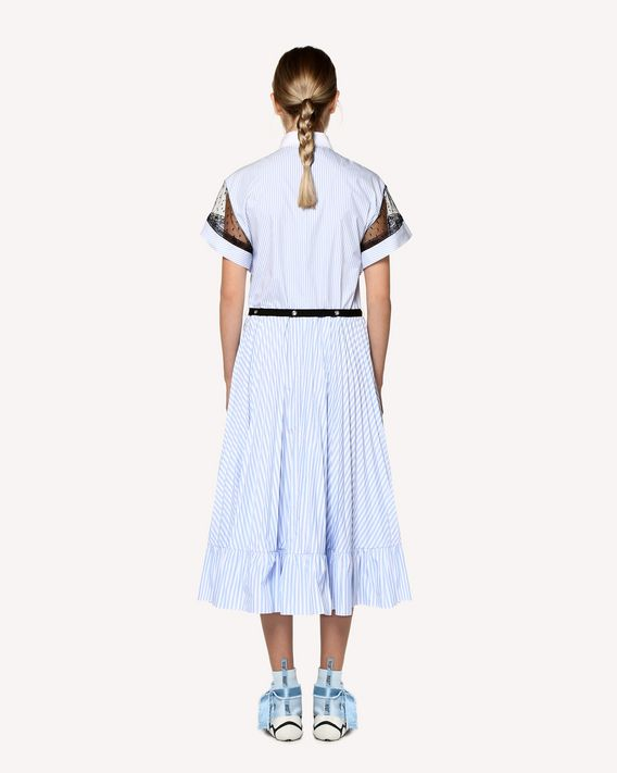 REDValentino Striped cotton poplin shirt dress