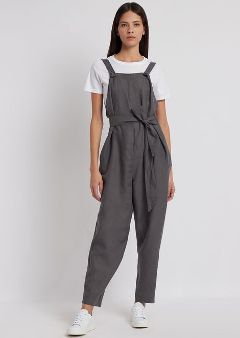 112b2218bac3 Linen dungarees with matching belt