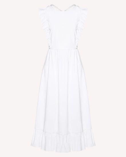 Robe en popeline stretch compacte avec motif torsadé