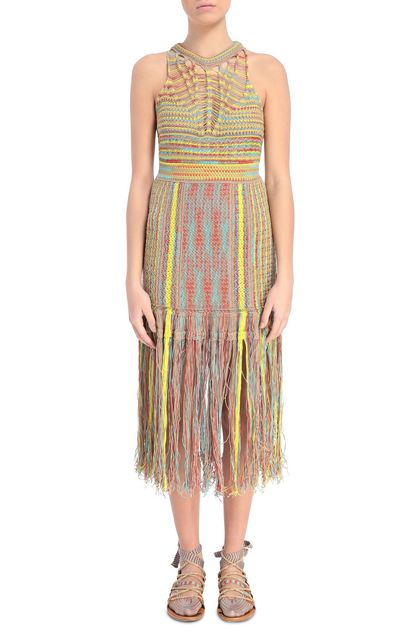 M MISSONI Dress Yellow Woman - Back
