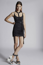 DSQUARED2 Stretch Cotton Twill Sparrowhawk Tank Dress Short dress Woman