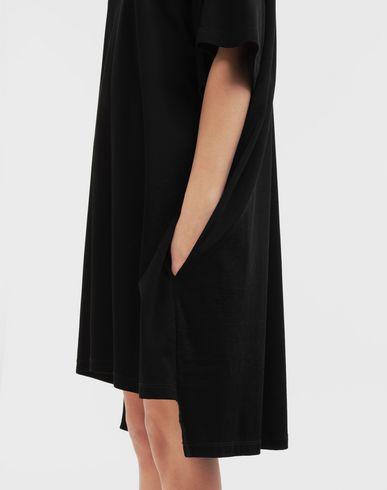 DRESSES Dropped back T-shirt dress Black