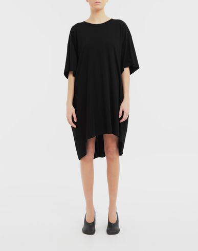 DRESSES Dropped back T-shirt dress Black