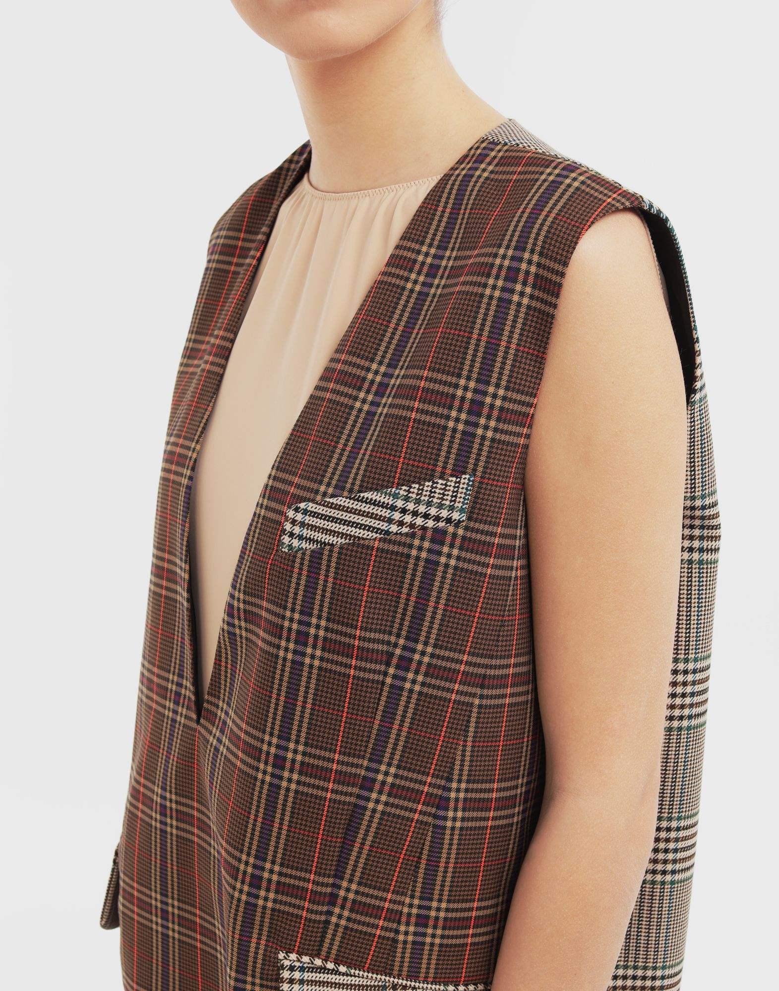 MM6 MAISON MARGIELA Checked décolleté dress Dress Woman a
