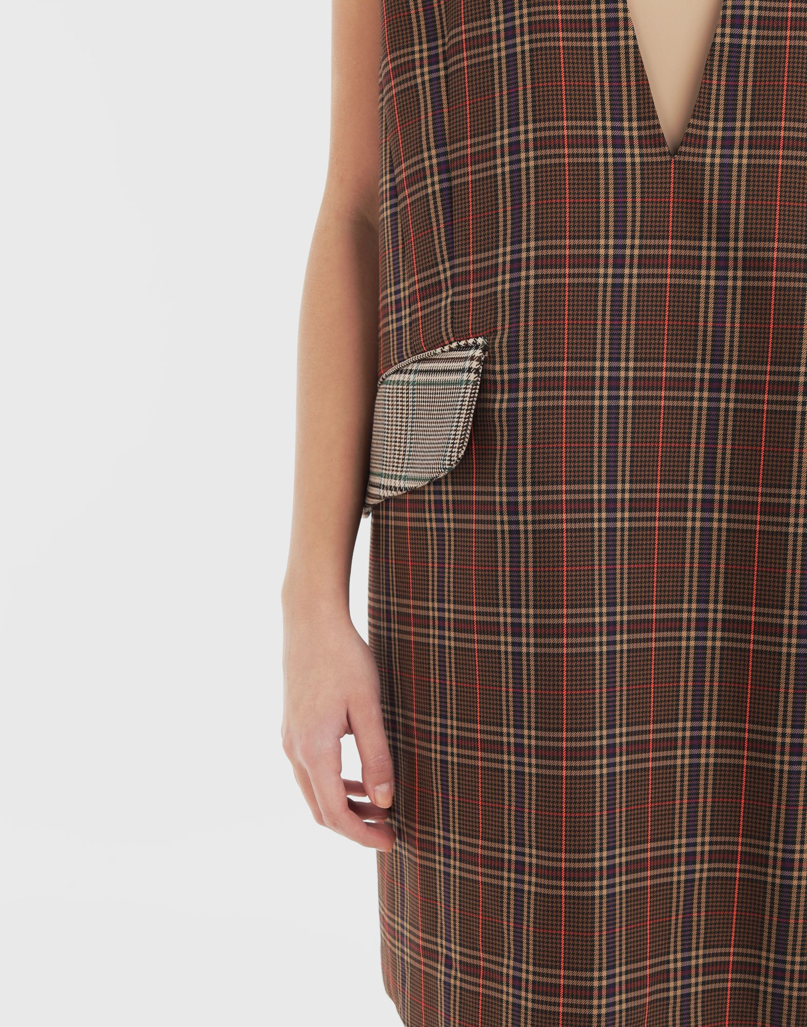 MM6 MAISON MARGIELA Checked décolleté dress Dress Woman b