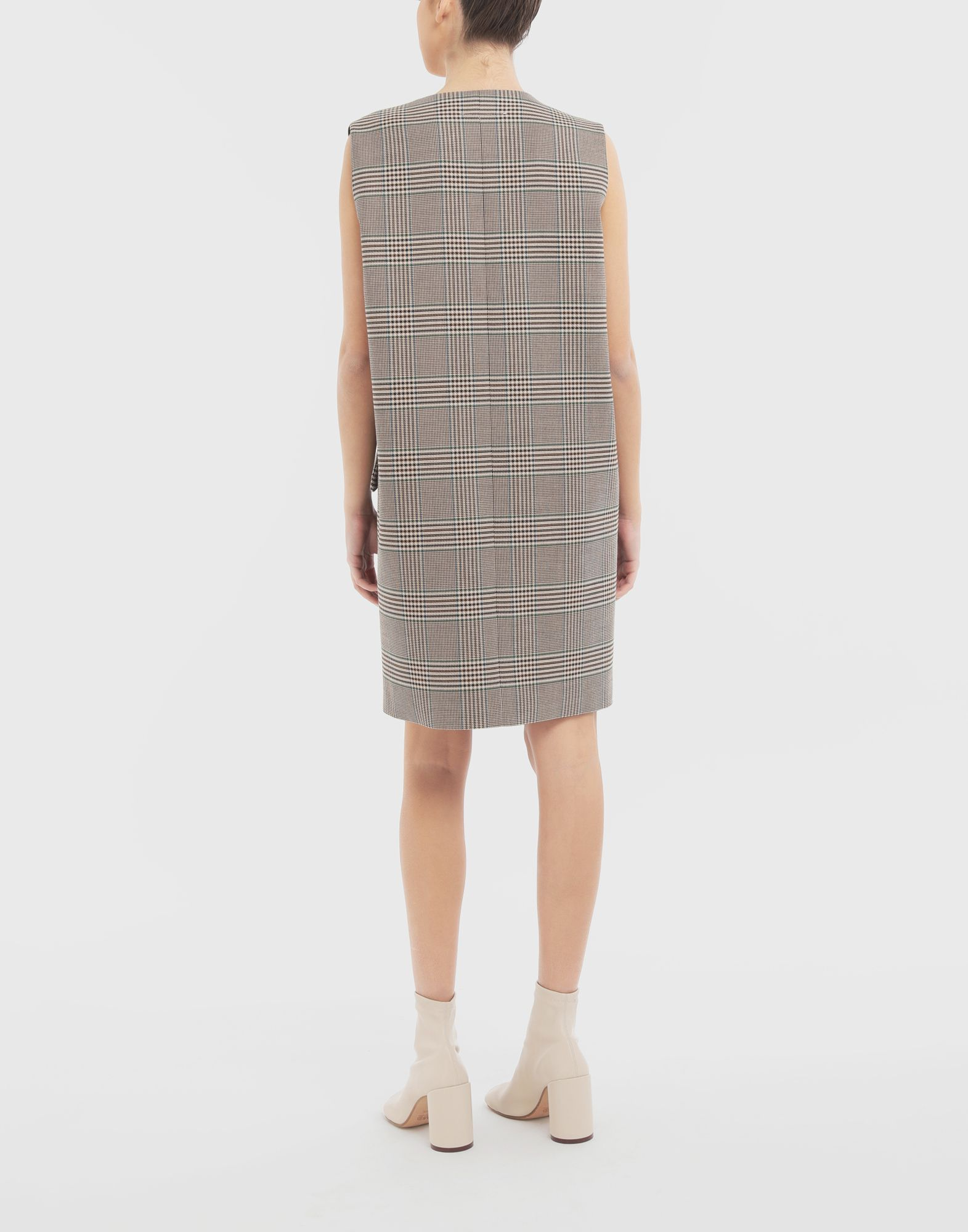 MM6 MAISON MARGIELA Checked décolleté dress Dress Woman e