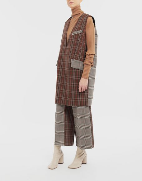 MM6 MAISON MARGIELA Checked décolleté dress Dress Woman d