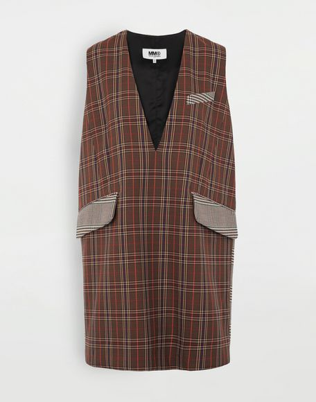 MM6 MAISON MARGIELA Checked décolleté dress Dress Woman f