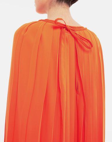 KLEIDER Faltenkleid Orange