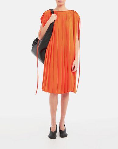 ワンピース・ドレス プリーツ ドレス オレンジ