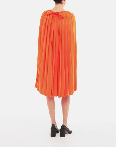 DRESSES Pleated dress Orange